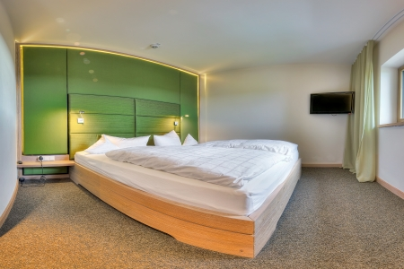 Contemporary bedroom in the Kaufmann hotel, Bavaria Stock Photo - 15247737