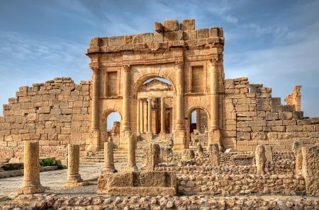 Famous ruins in Sbeitla, Tunisia