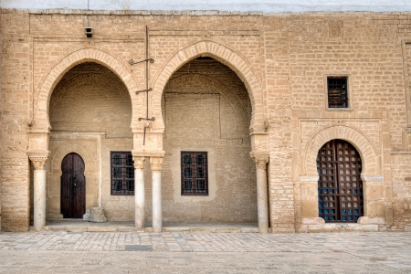 kairouan: The Great Mosque of Kairouan Stock Photo
