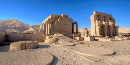 Temple of Ramses (Ramesseum) in Luxor, Egypt