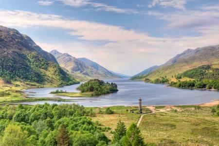 loch: Beautiful landscape of  Loch Shiel in Glenfinnan, Scotland
