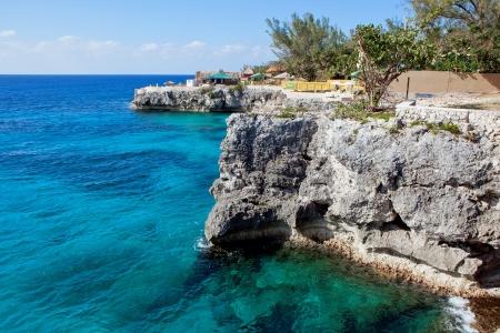 Klify w Negril, Jamajka Zdjęcie Seryjne