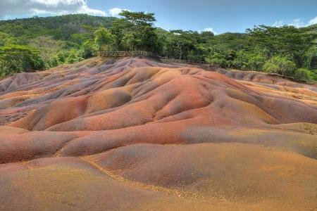 Famous seven oloured earth, Chamarel, Mauritius