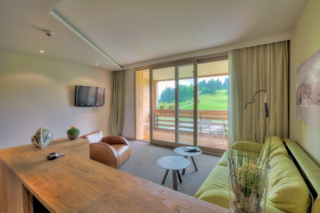 Beautiful living room in Kaufmann hotel, Bavaria Stock Photo - 18036850