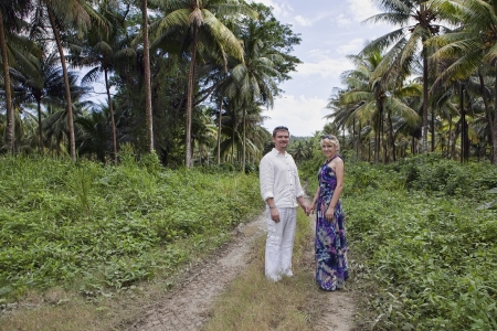 European couple on a romantic walk in Jamaica Stock Photo - 18118881