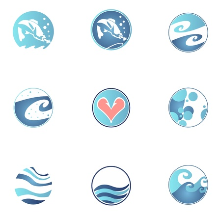Set of fishing icons Stock Vector - 14481873