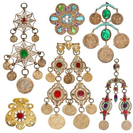 200 year old jewelery set Stock Photo