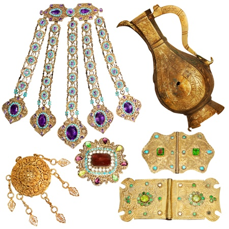 200 year old jewelery set Stock Photo