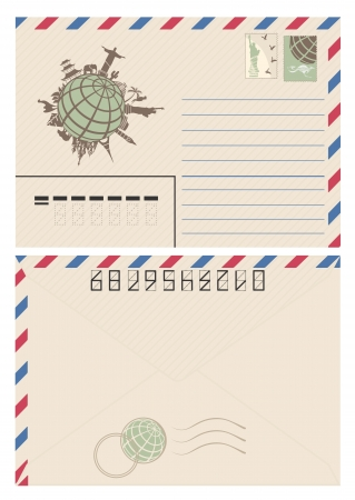 Vintage travel envelope
