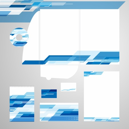Corporate Identity Template Vector Vectores