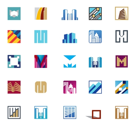 Set of abstract square for real estate business Stock Vector - 30154145