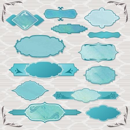Eastern elegant frames for signs, business and scrapbooking design Illustration