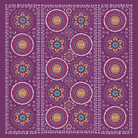 Vintage uzbekistan ornaments for interior design and business