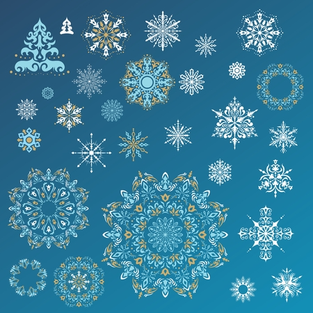 Winter illustration with beautiful falling snow for christmas and new year cards, gifts, invitation design