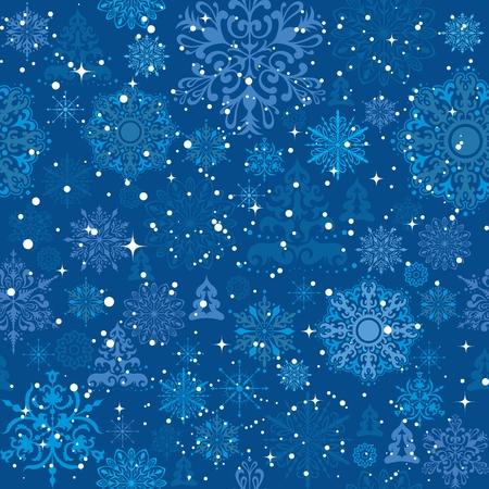 Copos de nieve y �rboles de Navidad de fondo para papel de regalo