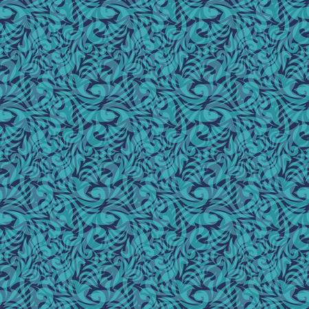 Aqua blue textile scrapbooking pattern for design Vector
