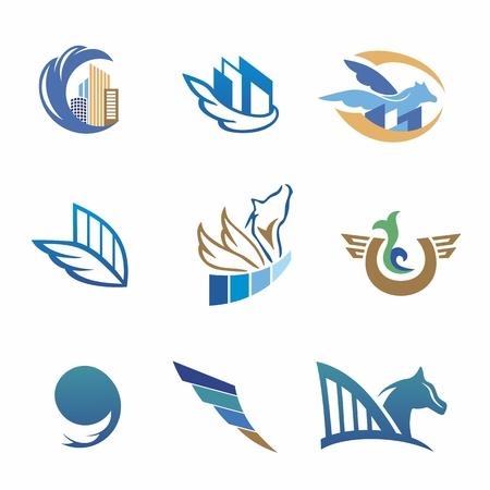 pegasus: Bienes ra�ces, identidad viajes con Pegaso y edificios para el dise�o