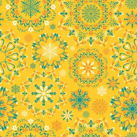 Ilustraci�n del invierno amarillo con hermosa ca�da de nieve para Navidad y tarjetas de a�o nuevo, regalos, dise�o de la invitaci�n