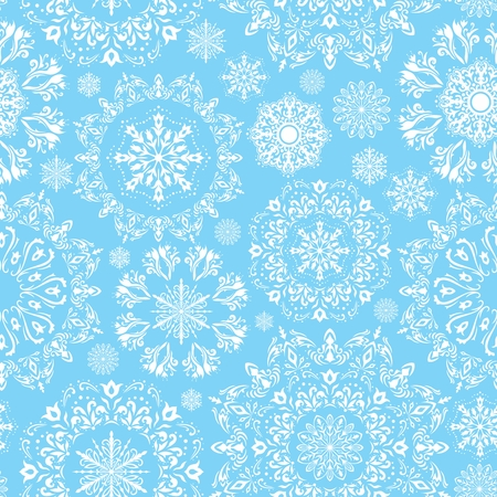 Winter blue illustration with beautiful falling snow for christmas and new year cards, gifts, invitation design