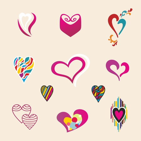 Cool heart shapes for design, Valentines day