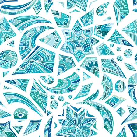Vector seamless pattern with abstract shapes for gift card invitation poster design Vector