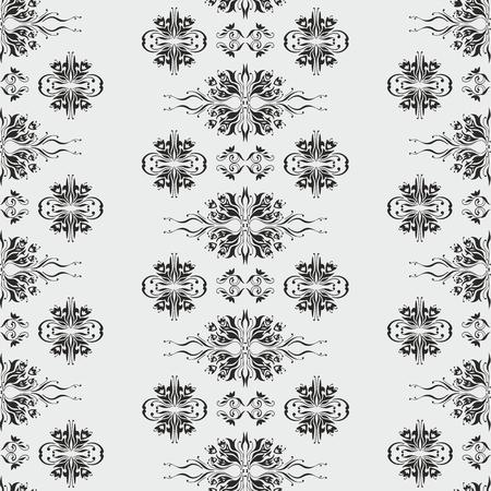 Vintage classical vector pattern with Islamic Arabic swirls Illustration
