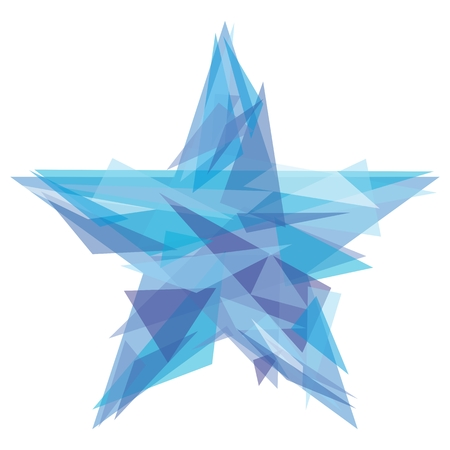 tetrahedron: 23 February Russian symbol for business design Illustration