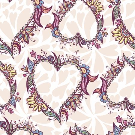 Creative vector seamless background for Valentine design Illustration