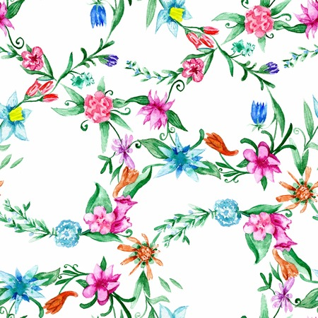 Colorful seamless 8 march background with flowers for wrapping and textile design Stock Photo