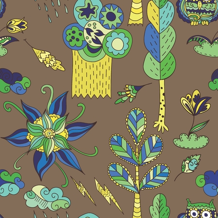 Seamless baby children background for wallpaper and textile design