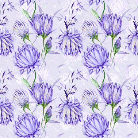blowers: Royal old style wallpaper with elegant romantic violet blowers on canvas background for design and scrapbooking