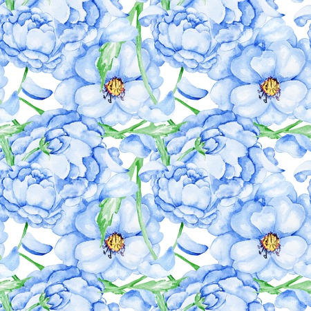 Soft seamless blossoming background for wallpaper fabric design Stock Photo