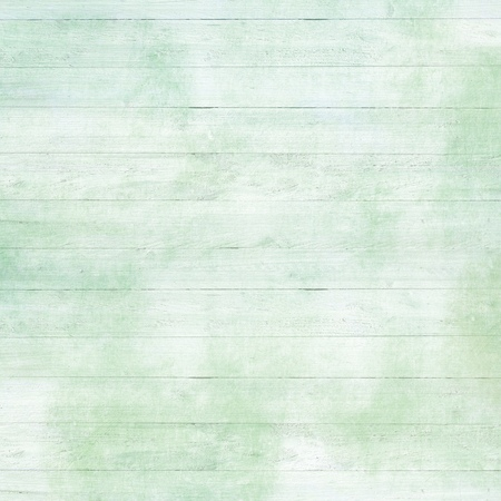 Rustic old plank background in green, mint and beige colors with textured scratches and antique cracked paint for scrapbooking and decoupage