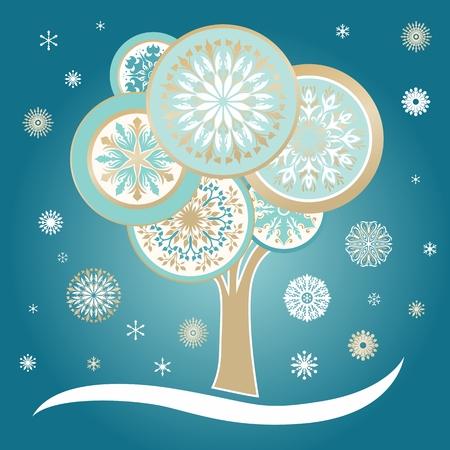 background designs: Eco Christmas illustration with elegant ornaments on turquoise background