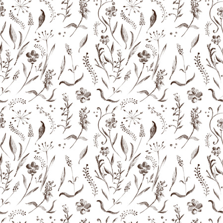 fabric texture: Ornament with flowers and leaves for design
