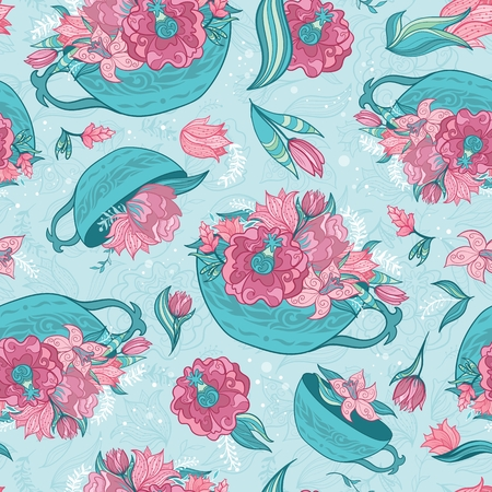 Vector Spring Turquoise Pattern Illustration