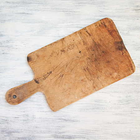 Vintage Chopping Board on White Table