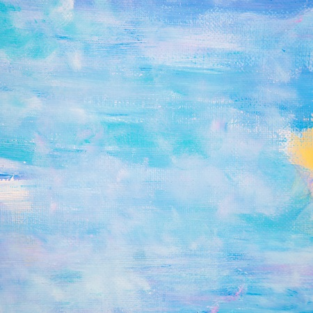 Blue Painted Canvas Background