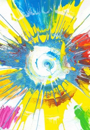 Rainbow Abstract Art Background