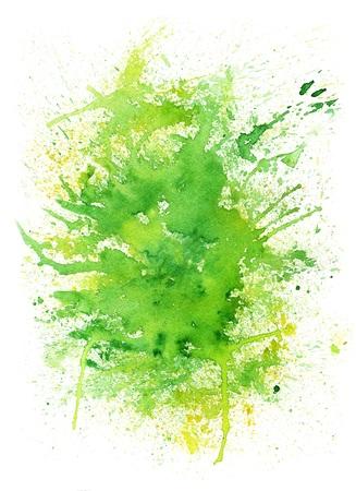 Spring Abstract Blob Watercolor Stock Photo