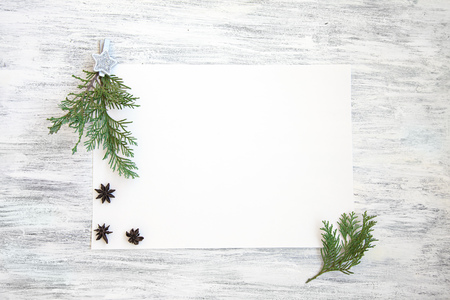 Christmas Mockup with White Paper