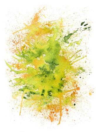 Abstract Watercolor Summer Blob