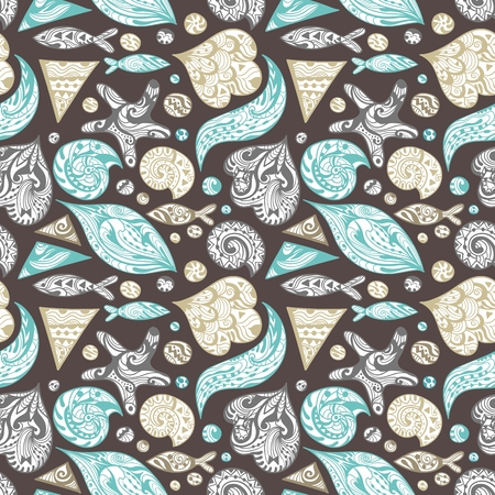 Vector Ornamental Sea Pattern