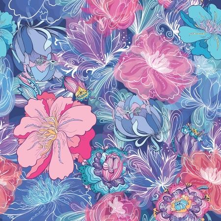 Romantic Vector Floral Pattern