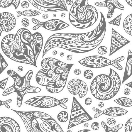 Vector Sketch Sea Pattern