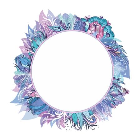 Vector Floral Wreath Illustration