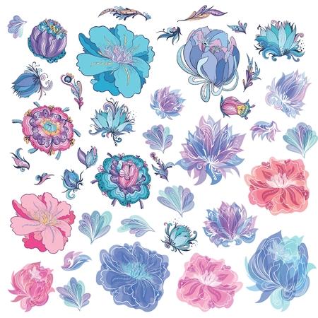 Vector Sketch Flowers