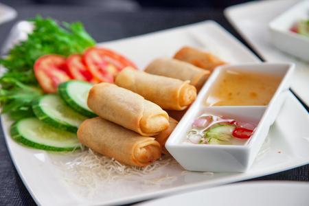 Asian Spring Rolls Stock Photo