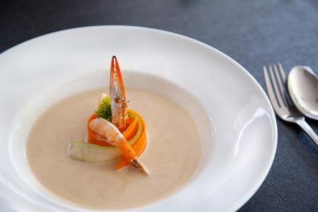 Crab Seafood Soup Stock Photo