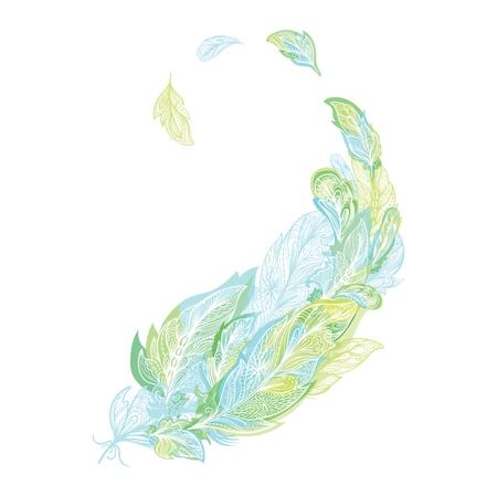 Boho Feather Print Illustration